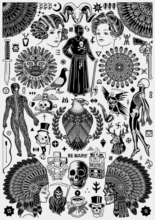 Designersgotoheaven.com Collaborative poster by Mike Giant #collab #poster