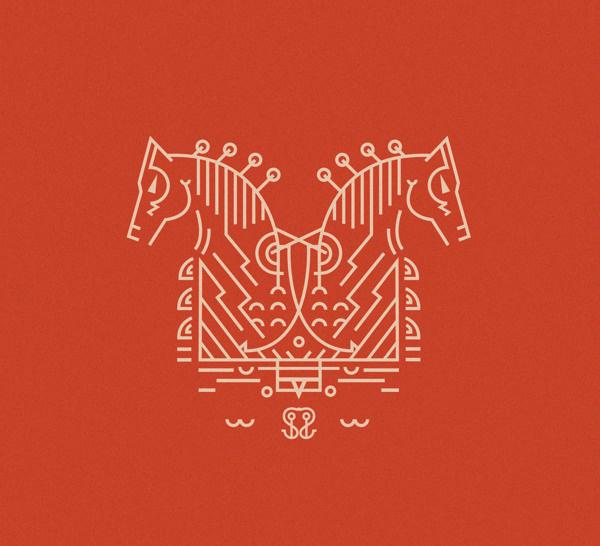 Experimental typeface inspired by Norse mythology Sleipnir #font #design #typeface #norse #scandinavia #typography