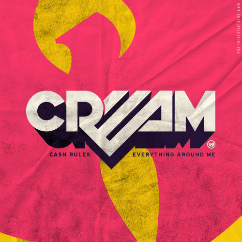 """CREAM"" #wutang #typography #hiphop #retro #pink #poster"