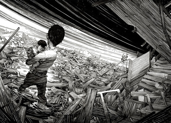 Nico Delorts Epic Ink and Scratchboard Illustrations Offer an Intriguing Glimpse into Fictional Narratives #illustration