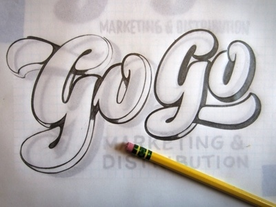 Dribbble - T&L Go Go Sketch by Ken Barber #lettering #hand #sketch #typography