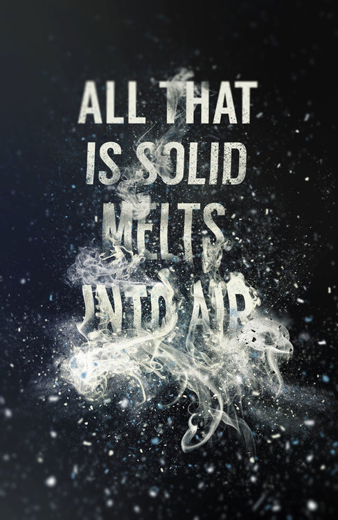 """Typeverything.com """"All that is solid melts into air"""" by Steven Bonner. #type"""