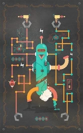 It's Complicated, Robot - Vector Graphics - Creattica #complicated #illustrator #robot