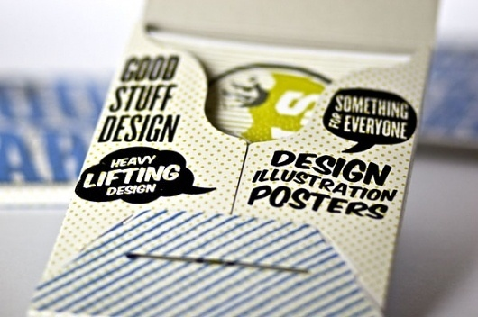 Good Stuff Design Good Cards - FPO: For Print Only #color #typography
