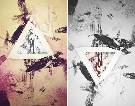 Solastalgia by ~Trosious #abstract #white #color #solastalgia #black #triangle