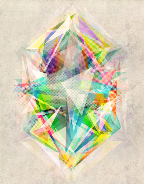 Graphic 5 Art Print #random #triangle #noise