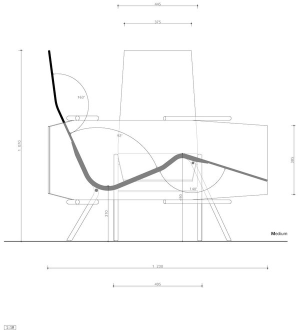 020 long chair & 021 wine table – Andreas Aas – WHAT WE DO IS SECRET #furniture #drawings #chairs