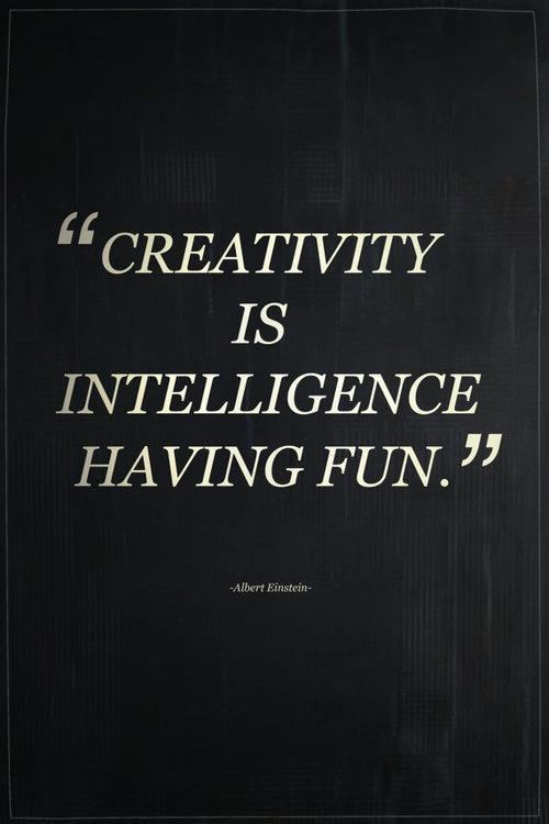 CJWHO ™ (Creativity Is Intelligence Having Fun by...) #albert #quote #creativity #einstein #poster #intelligence #typography