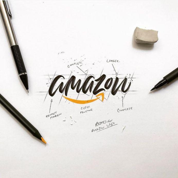 Calligraphic @amazon by @luislili