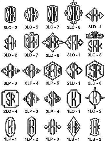 Monograms.jpg 500×671 pixels #monograms