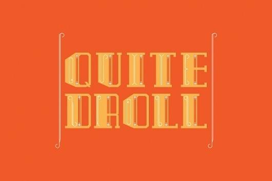 Fonts - Buzz Chillington by Alan Segama - YouWorkForThem #quite #droll #buzz #chillington #typography