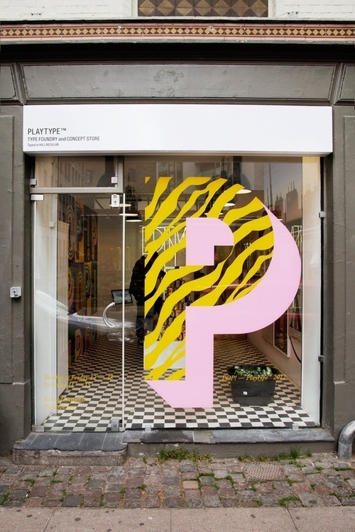 Typeverything.com Playtype Foundry concept store window. #typography