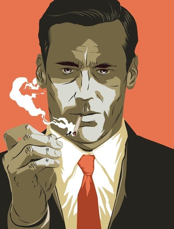 Mad Men Matt Taylor Illustration #illustration #vintage