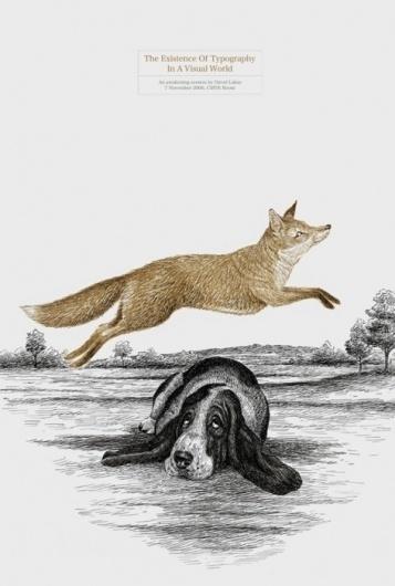 Designersgotoheaven.com -'The existence of... - Designers Go To Heaven. #fox #hound #book #cover #etching #dog