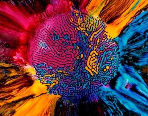 Millefiori #abstract #color #ferrofluid
