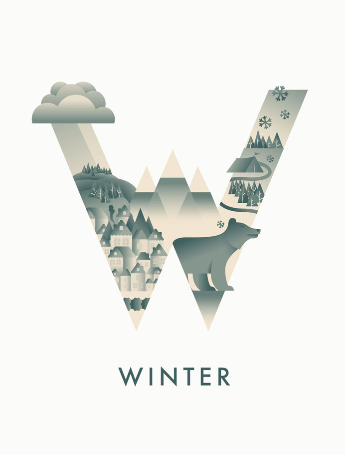 #winter #typography #illustration #season