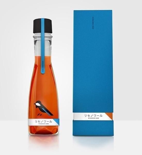 lovely package ricenoir sake 1 #packaging