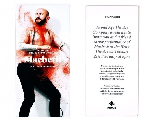 Second Age – Macbeth | Aad #invite #design #minima #typography