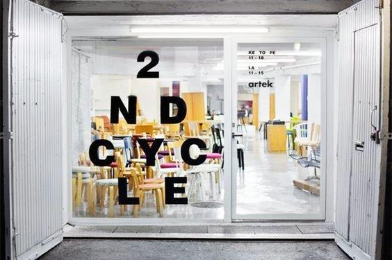 Artek 2nd Cycle logo. Design: Tony Eräpuro #logo #window #sticker #vinyl #furniture #alvaraalto