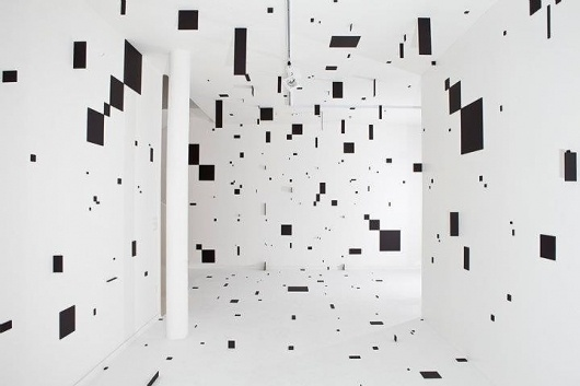 • SINGULAR FORMS #white #black #square #art #room