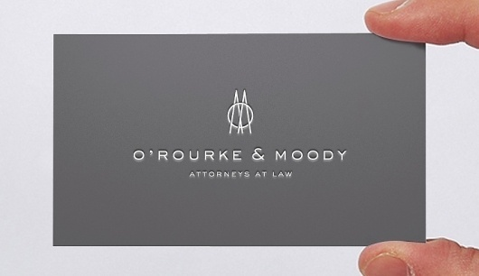 O'Rourke & Moody Logo Design by Kyle Poff | LogoStack #logo #design