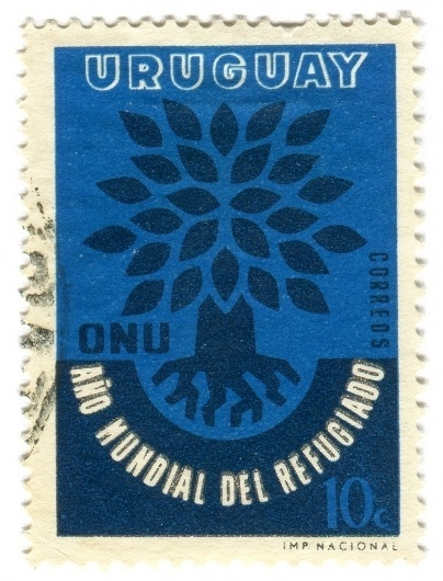 All sizes | Uruguay Postage Stamp: ONU tree | Flickr - Photo Sharing! #type #typography