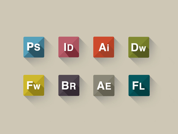 PSD Freebie : Adobe Icon sets #flat #icons