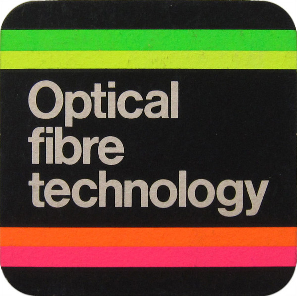 British Telecom Optical Fibre Technology Beer Mat #british #telecom #optical #fibre #print #design #graphic #technology