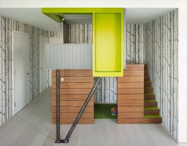 Kids play house in artistic apartment #interior #painting #art #kids #apartment #room