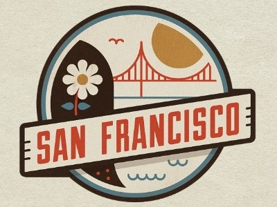San Francisco #logo #up #lock