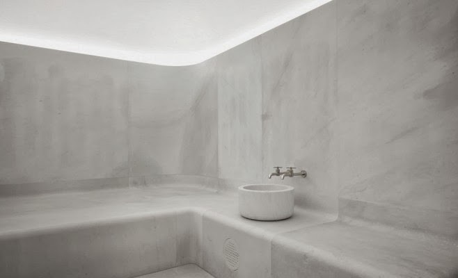 simplicity love: Akasha Holistic Wellbeing Centre, Cafe Royal, London | David Chipperfield Architects #spa #bath