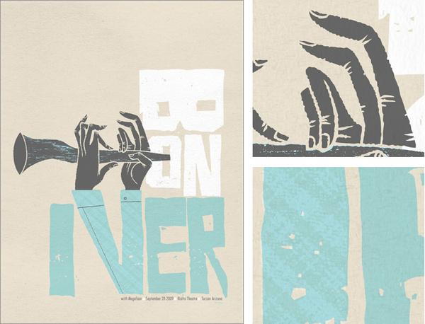 Spike Press #iver #bon #print #screen #illustration #poster #hands #typography