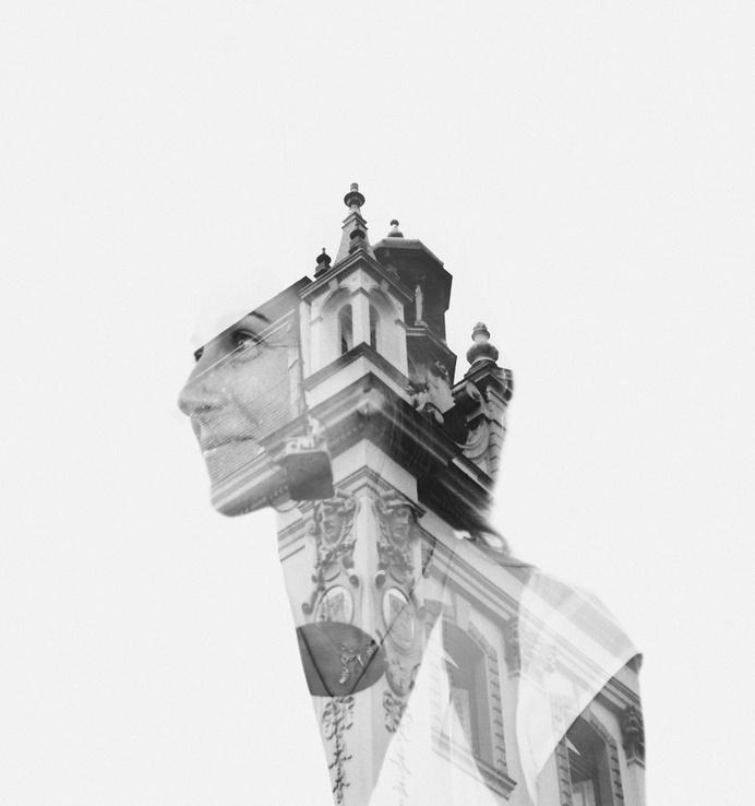 Double exposure using a Fed 5 and a Canon 5D camera #fed5 #canon5d #double exposure #dimitris florakis