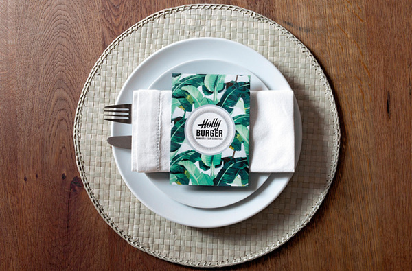 Holly Burger #spain #menu #identity #restaurant