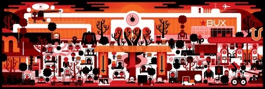 KHUAN+KTRON #white #red #khuanktron #orange #black #illustration #ktron #khuan