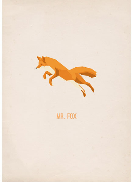 Mr Fox - poster #vector #fox #print #paper #illustration #gif #poster #animal