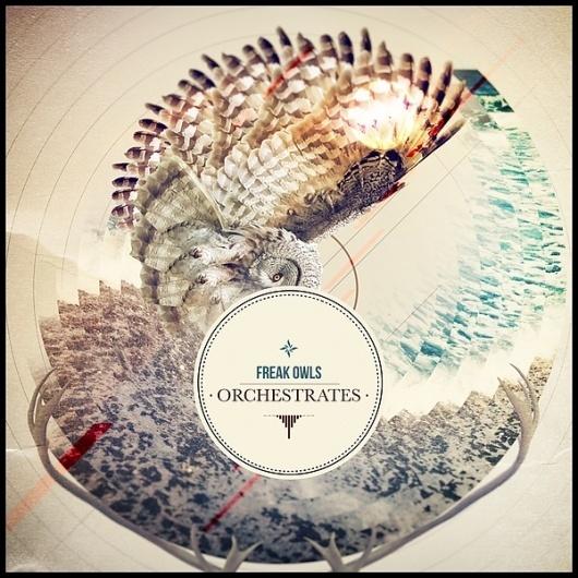 Graphic design on the Behance Network #ocean #owl #sepia #design #graphic #brown #horns #circle #freak