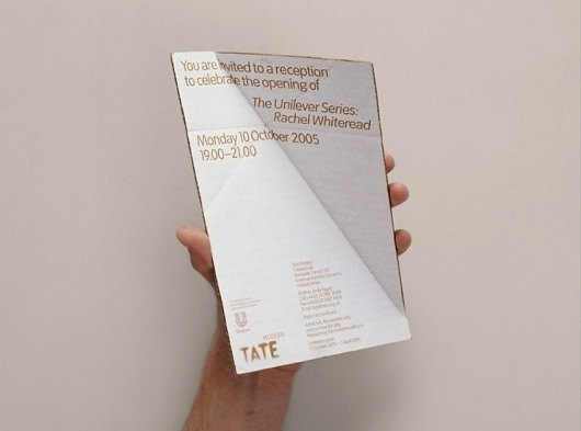 Rachel Whiteread: Embankment invitation | Cartlidge Levene #card #print #design #typography