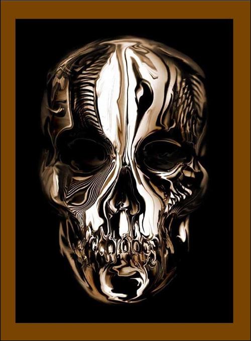 Alexander McQueen Savage Beauty #chrome #skull