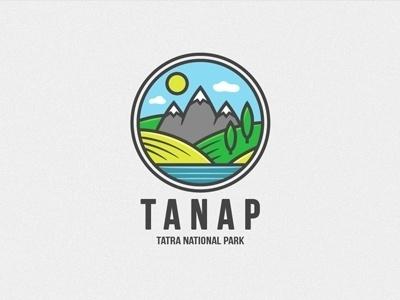 Dribbble - Tanap by Marek Mundok #lanscape #logo #mountains #illustrations