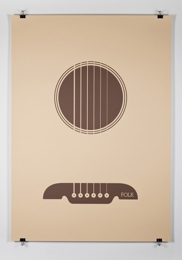 Music Genre Posters – Graphic Design inspiration on MONOmoda #music #posters