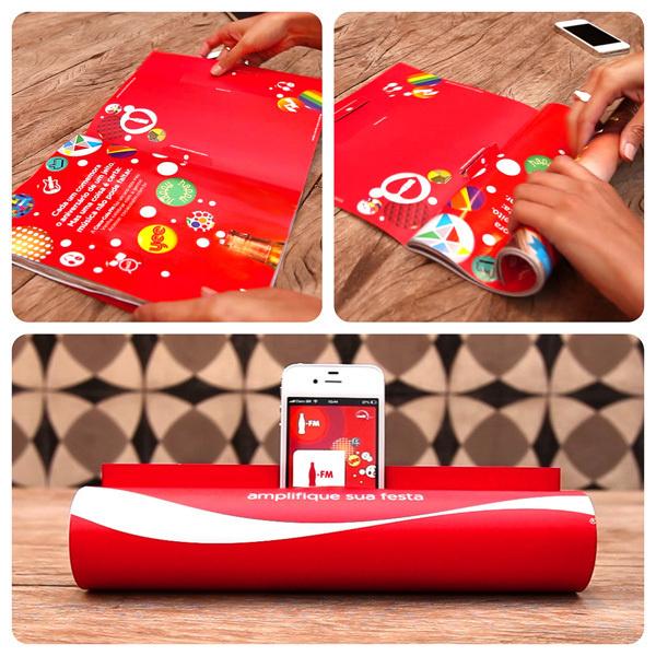 Coca-Cola.FM Magazine Amplifier by JWT Brazil #capricho #jwt #print #design #fm #rodrigo #cola #coca #colafm #pissarro #adam #amplifier #poster #andrea #magazine