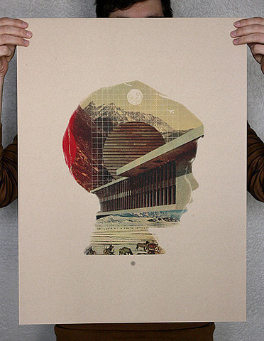 Mark Weaver's stuff is fantastic, has a real futuristic digital vibe but with a vintage mood, especially in the colours. #print #design #graphic