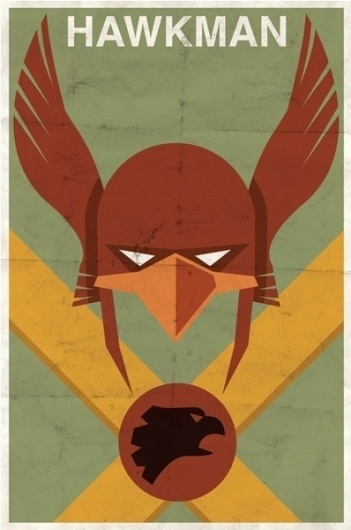 Vintage Style Comic Character Posters | Paper Crave #hawkman #vintage #poster