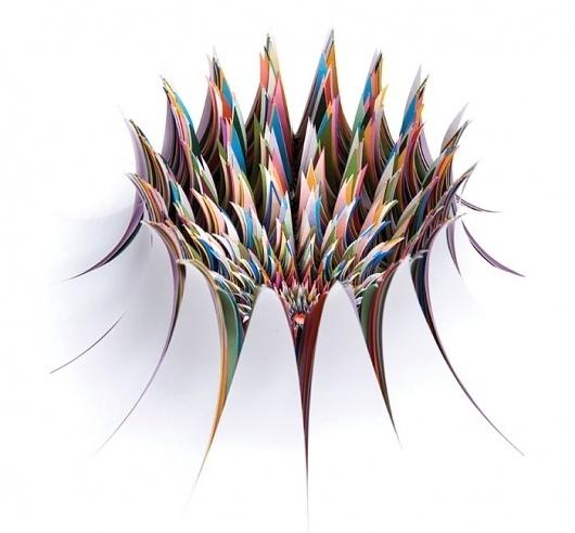 Jen Stark #sculpture #stark #jen #paper #burst