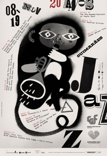 GUIMARÃES JAZZ 2011 POSTERS on the Behance Network #martinojana #print #illustration