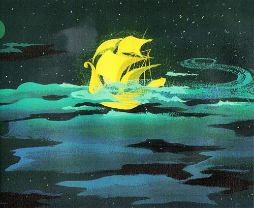 concept art by Mary Blair #mary #land #peter #illustration #disney #blair #pan #never