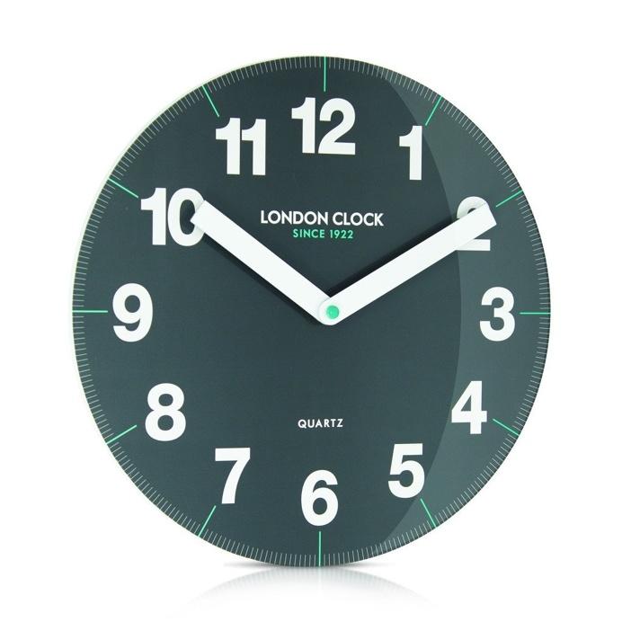 London Clock Company 'Ignite' Letter Wall Clock White, 30cm x 3.5cm