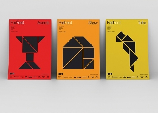 Work: FadFest_posters | Astrid Stavro #geometry #poster