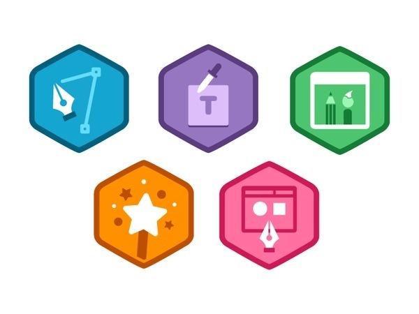 Illustrator Foundations Badges #icon
